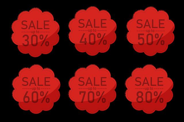štítky s procenty