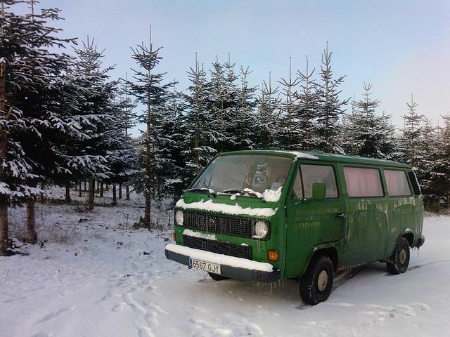 zelené nákladní auto