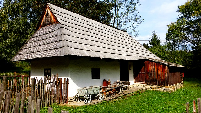 zemědělská usedlost v Maďarsku